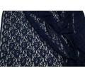Кружевное полотно, Хлопок + ПА, темно-синее