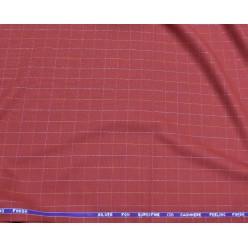 Ткань костюмная Super 130's Silver Fox бруснично-красная в клетку