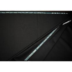 Плательно-костюмный кашемир Super 250'S, чёрный, Италия