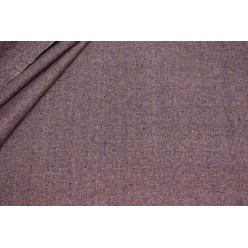 Костюмный шёлк твидовой фактуры, серо-фиолетовый