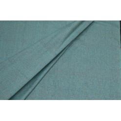 Костюмный шёлк твидовой фактуры, темно-бирюзовый