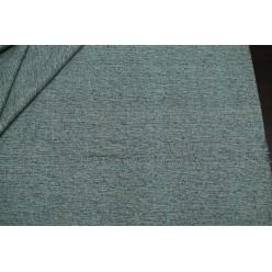 Костюмный шёлк твидовой фактуры, бледно-зеленый с черным