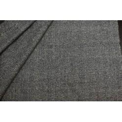 Костюмный шёлк твидовой фактуры, серо-черный